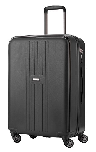 HAUPTSTADTKOFFER - FHAIN Koffer Trolley Hartschale matt, TSA, 65 cm, 71 Liter, Schwarz