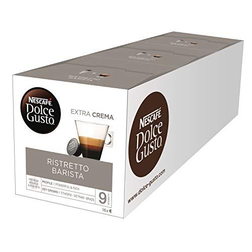 NESCAFÉ Dolce Gusto Espresso Barista, 48 Kaffeekapseln, kräftiger Espresso, Robusta und Arabica Bohnen, dunkle Röstung, dichte Crema, Aromaversiegelte Kapseln, 3er Pack (3 x 16 Kapseln)