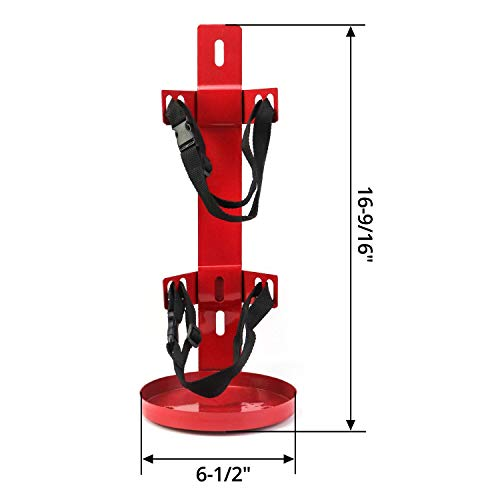 QWORK Fire Extinguisher Bracket, Heavy Duty Metal straps, Box Type, 10 lb Capacity