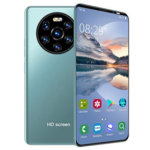 Smartphones desbloqueados, cámara trasera triple de pantalla completa perforada HD de 5.45in,batería de larga duración,teléfonos inteligentes con doble SIM (1 + 8GB),apto para estudiantes(Verde)