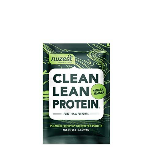Nuzest Clean Lean Protein Functionals - Premium Vegan Protein Powder, European Golden Pea Protein, Dairy Free, Gluten Free, GMO Free, Naturally Sweetened, Vanilla Matcha, Single Serving
