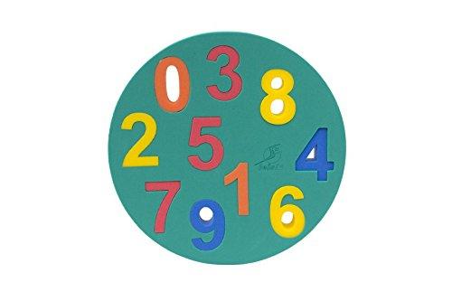Leisis 0101075 puzzel met cijfers, meerkleurig, eenheidsmaat