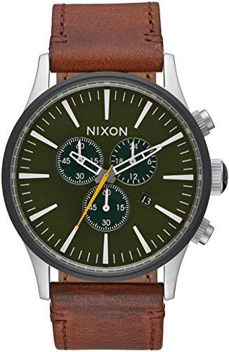 Nixon Orologio Analogico-Digitale cronometro Uomo con Cinturino in Pelle A4052334-00