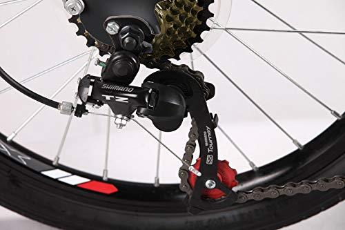 "Xspec 20"" 7 Speed Folding Compact City Commuter Bike, Black"