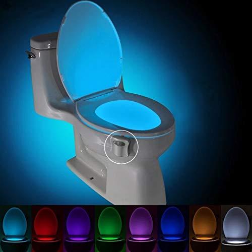 Pamura - WC Glowy - WC Nachtlicht - Toilette Licht - Toilettenlicht - LED Licht - Nachtlicht - WC Deko - Bewegungsmelder