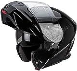 SCORPION EXO-920 Solid Modular Negro Brillante con pantalla Solar interior Talla L