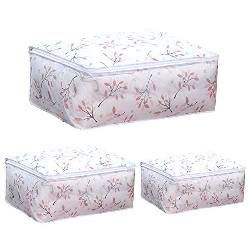 Tomedeks 3 PCS PEVA Bolsa de ropa transparente, Bolsa de edredón, Inodoro, Impermeable, Transpirable, Plegable, Organización de armario