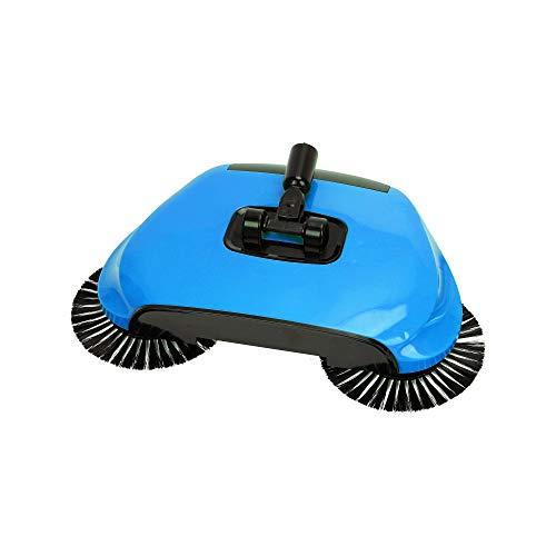 Escoba Giratoria aspiradora manual inalámbrica y ligera con Mopa 2 cepillos de limpieza giratorios