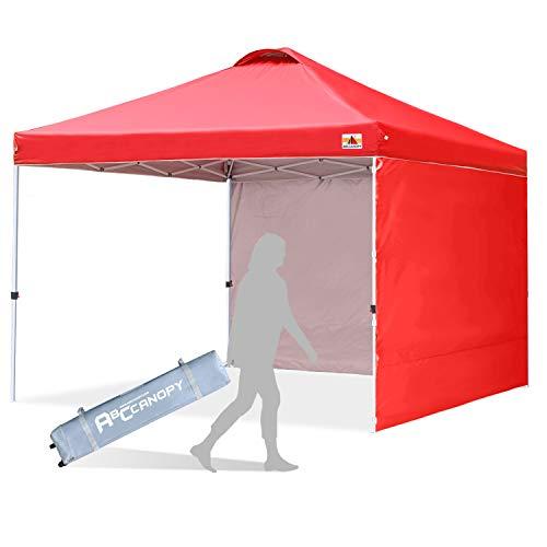 ABCCANOPY 3x3M Pavillon wasserdicht Pop-Up Gartenpavillon Festival Sonnenschutz,mit 2 Seitenwände,rot