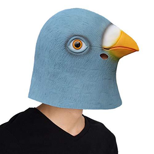 Finalshow Tauben Maske Latex Tier Kopf Kostüm Gummi Lustig Masken für Halloween Weihnachten Party Dekoration