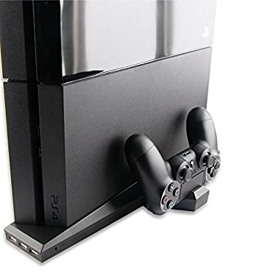 TNTi SuperCharger - Playstation 4 Intercooler and Controller Charging Stand with AC adapter