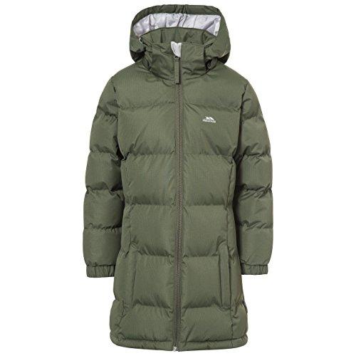 Trespass Tiffy, Moss, 2/3, Warme Gepolsterte Wasserdichte Jacke mit abnehmbarer Kapuze für Kinder / Mädchen, Grün