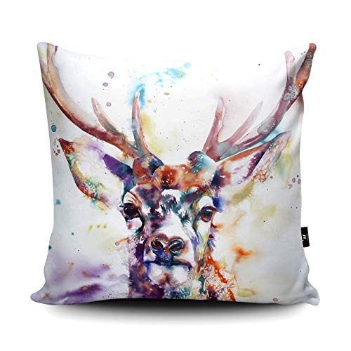 nonbrand 45x45cm Stag Watercolour Pillow Stag Cushion Deer Illustration Home Decor Living Room Stag Furnishings