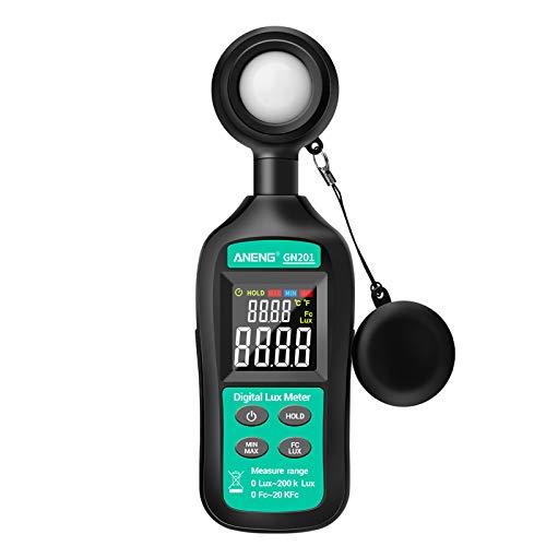 DAIMANPU GN201 Luxmeter Digitallichtmesser 200K Luxmeter Photometer UV-Meter UV-Radiometer Hand-Illuminometer-Photometer