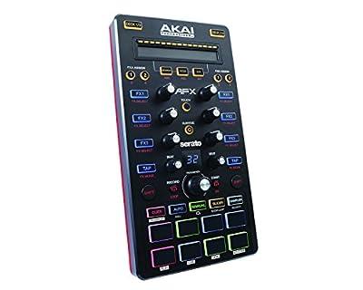AKAI Professional AFX Ultra Portable USB Powered 4-Deck DJ FX Controller for Serato DJ Including Flip