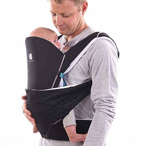 Cococho Ergonomic Baby Carrier- Adapts from Infant to Toddler, Easy Unassisted Wearing Method for Both Front and Back. Breathable Cotton 3D Mesh Inside. Teething Pads are Included.