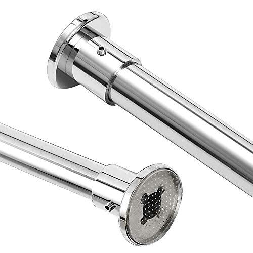 ZXL uitschuifbare telescopische roestvrijstalen gordijnroede douche, telescopische rail voor kledingrail, gordijnroede badkamer, moderne meubels geschenkgordijn douchegordijnen (grootte: 141-180cm)