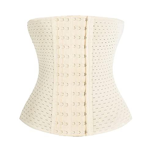 QOXEFPJZ fajas reductoras adelgazantes Shapewear de verano transpirable, cintura fina hueca, cinturón de vientre posparto, sello de cintura, cuerpo de aptitud, cinturón de 6 pechos