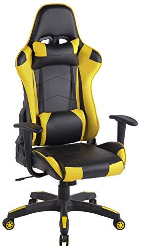 Silla gaming amarilla modelo Miracle V2 en cuero PU