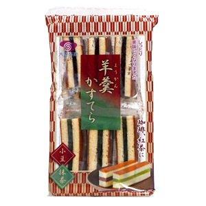大昇製菓 羊羹かすてら 12本入り (小豆・抹茶, 12袋)