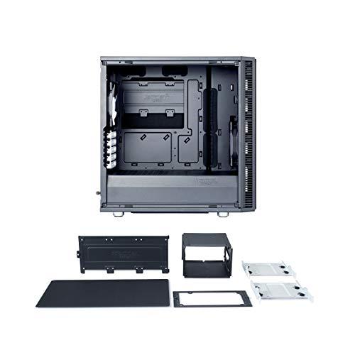 Fractal Design MicroATX Case Cases FD-CA-DEF-Mini-C-BK, Black - Solid