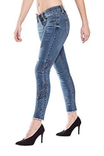 Blue Monkey Damen Cropped Jeans Gaby-3885 Size 29