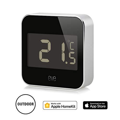 Elgato Eve Degree, Temperatur- und Luftfeuchtigkeits-Monitor mit Apple HomeKit-Technologie, Bluetooth Low Energy