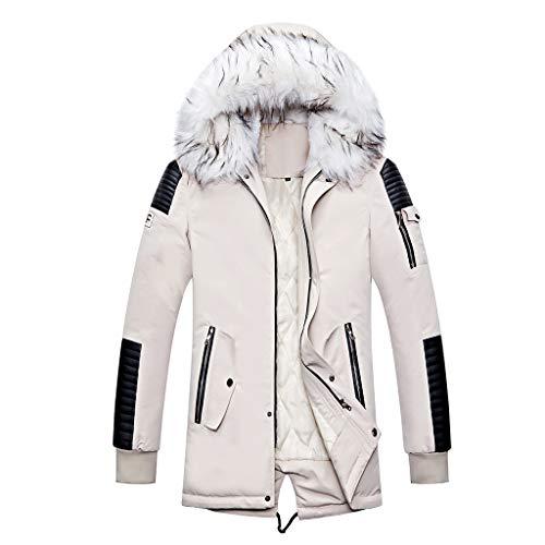 Buy Men Winter Jackets with Plush Hooded Winter Thicken Warm Lightweight Windbreaker Outdoor Outwear...