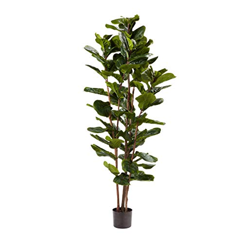 """Home Pure Garden Artificial Fiddle Leaf Fig Tree-72"""" Faux Plant Natural Feel..."""