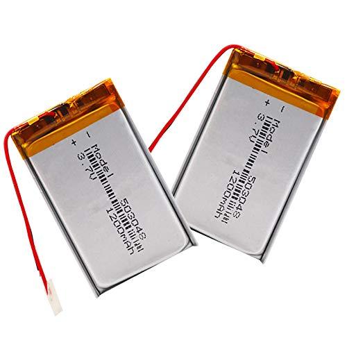 RFGTYH 503048 batería Recargable 3,7 V 053048 1200MAH batería de polímero de Litio para MP3 MP4 Bluetooth GPS Auriculares estéreo inalámbricos Tableta 2piece