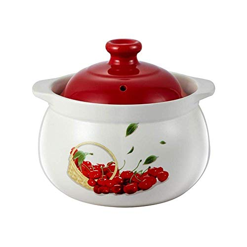 YWYW Clay casserole Clay pot Ceramic casserole Ceramic casserole - Beautiful and elegant, strong practicality, durable and easy to clean - 5000ML capacity