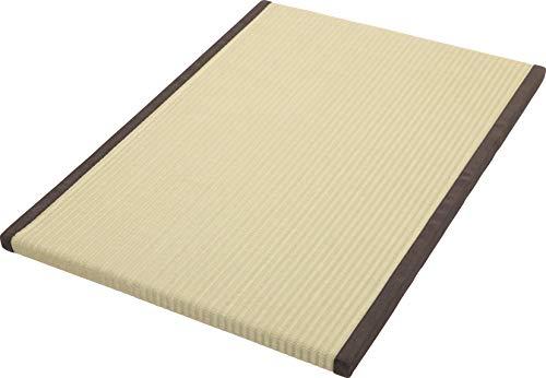 大島屋(Ooshimaya) お風呂用畳 洗える樹脂素材 抗菌消臭 転倒防止 床面滑り止め加工 ナチュラル 約60×85×3cm
