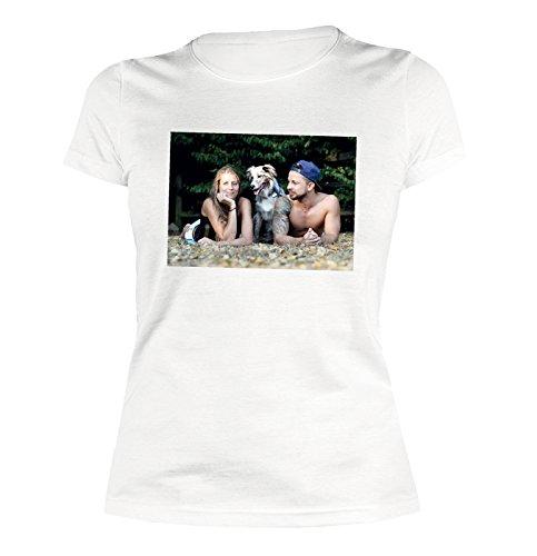 Fotodruck auf Frauen Shirt Damen T-Shirt mit Wunschbild Wunschfoto Photodruck Ihr Bild Ihr Foto auf T-Shirt mit Ihrem Bild individueller Druck