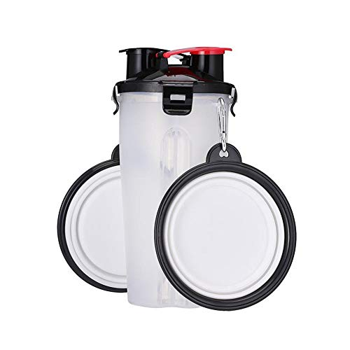 Huisdier Cup Dual-Use Cup PP materiaal/Vouwkom TPE Materiaal Outdoor Draagbare Reizen Cup Kan Houd Grain/Water Multi-Color Optioneel Kleur: wit