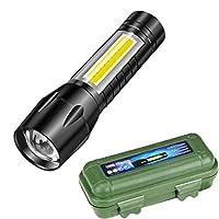 ミニ懐中電灯 充電式 超小型・軽量 80g 高輝度LED懐中電灯 強力 防災 1500mAh可充電電池内蔵 (CF2)