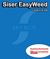 Siser EasyWeed アイロン接着 熱転写ビニール - 15インチ 50 Yards ブラック HTV4USEW15x50YD