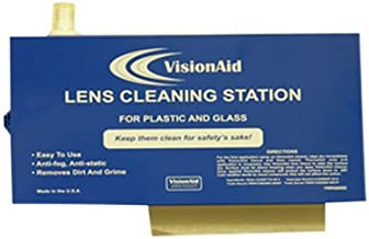 VisionAid 1WK600D Permanent Lens Cleaning Stations, Metal Dispenser, Empty with Key, Large