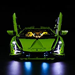 USAGE: (NOT include the Lego Set) The Light Set is used to light up technic lamborghini sian fkp 37. PORDUCT FEATURE: The Light is made use of original material purely handmade. It contains 1 USB Light kit ,Instruction guide, battery box. Plug in pow...