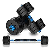 Pesa De Fuerza Pesas Masculino Y Femenino Brazo For Prácticas Barbells Gimnasio En Casa De 30 Kg De Peso Pesas Ajustable Set (Color : Blue, Size : 15kg)