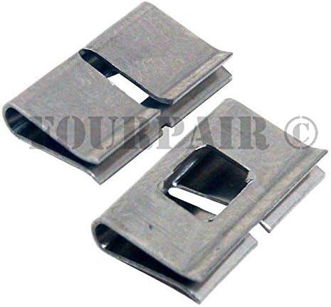 100 Pack 66 Punch Down Wiring Block Stainless Steel Metal Bridge Bridging Clips product image