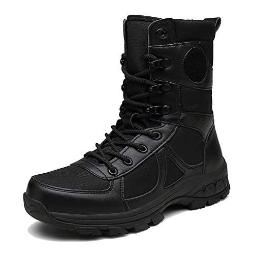 Lixiyu Tactische laarzen voor heren, microvezel, Oxford-weefsel, militaire laarzen, ultralicht