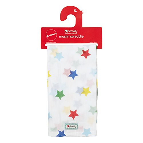 Piccalilly Organic Cotton Multi-coloured Unisex Rainbow Star...