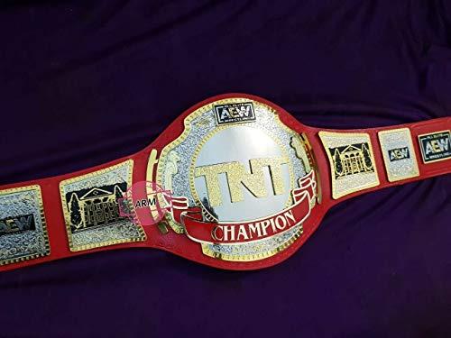 Maxan TNT Championship Belt Replica Wrestling Genuine Red Leather Belt Dual Plated
