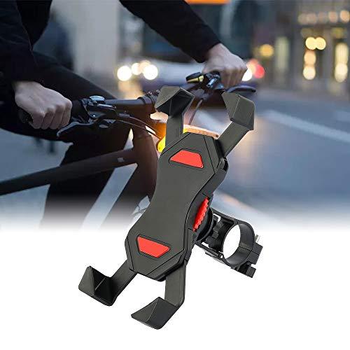 Fahrrad Lenker Handy Halterung, Fahrrad Handyhalterung, Edelstahl Handyhalter, 360 Drehen Universal Handy Halter, für Smartphone GPS