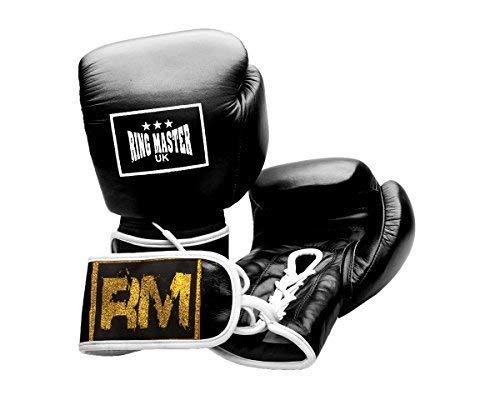 RingMaster Guantes de boxeo profesionales de piel auténtica