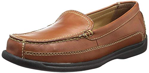 Dockers Mens Catalina Leather Casual Loafer Shoe, Saddle Tan, 10.5 W