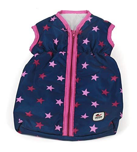 Bayer Chic 2000 792 72 Puppenschlafsack Puppen-Schlafsack für Babypuppen, Stars Navy, pink, Unisex