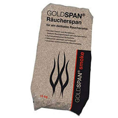 GOLDSPAN smoke 15 kg Räucherspäne Körnung 0,4-1 mm Räuchermehl Buche