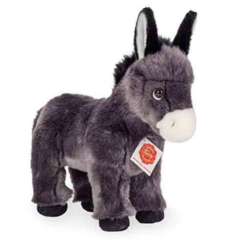 Teddy Hermann 90256 Esel stehend 25 cm, Kuscheltier, Plüschtier