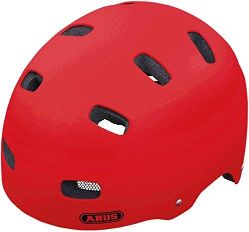 Abus - Casco infantil, color rojo (Red matt), talla S (48-55 cm)